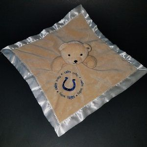 Indianapolis Colts Tan Teddy Bear Lovey Plush Toy